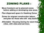 zoning plans