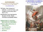 2 misterio glorioso la ascensi n del se or a los cielos