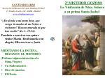 2 misterio gozoso la visitaci n de ntra se ora a su prima santa isabel