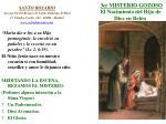 3er misterio gozoso el nacimiento del hijo de dios en bel n