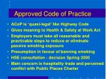 approved code of practice