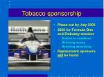 tobacco sponsorship