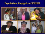 populations engaged in cfehdi