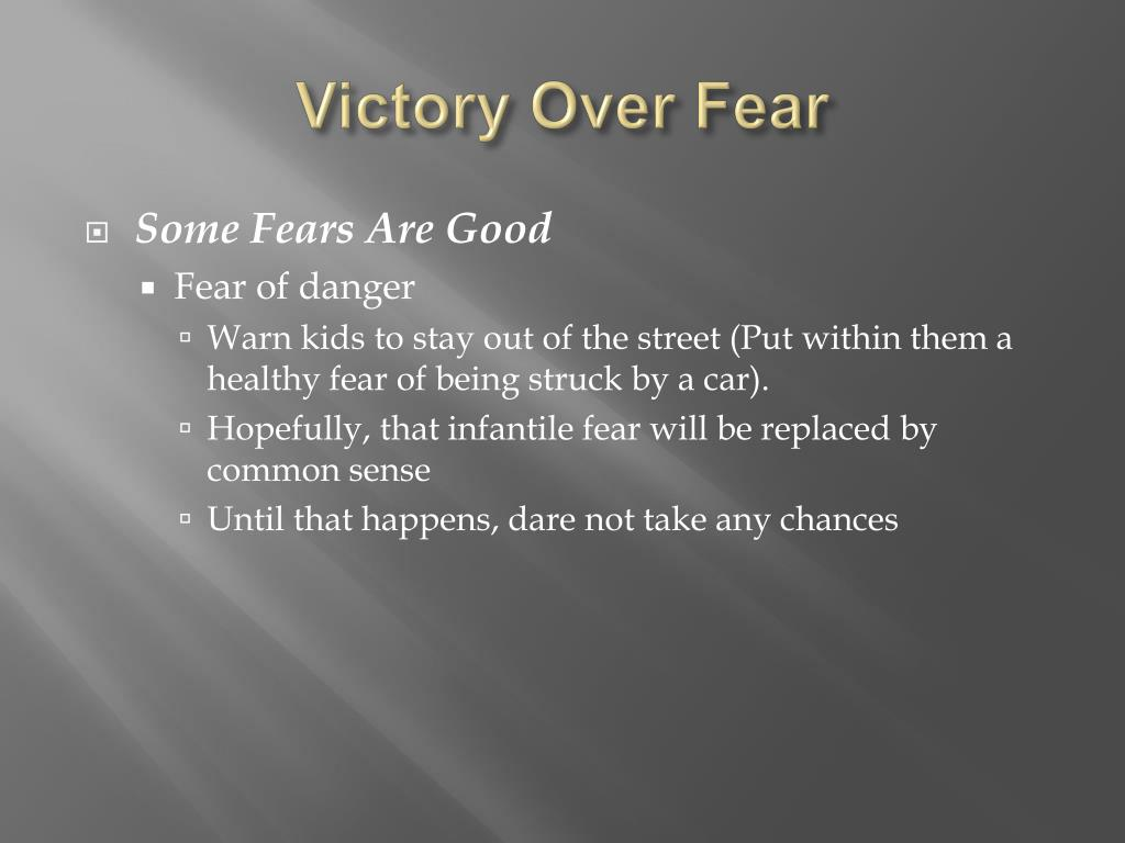 victory over fear l.