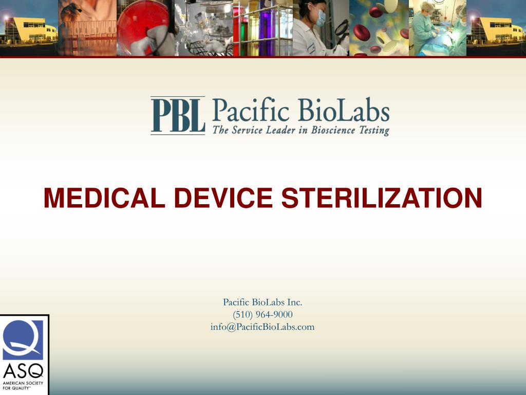 medical device sterilization l.