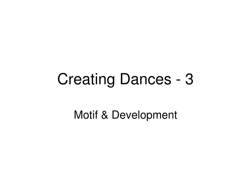 creating dances 3 l.