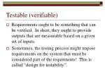 testable verifiable