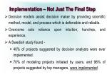 implementation not just the final step