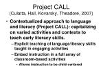 project call culatta hall kovarsky theadore 2007