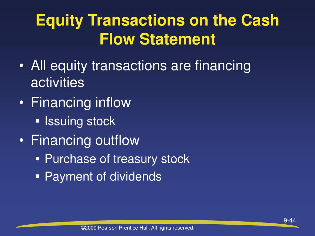 Equity Transactions on the Cash Flow Statement