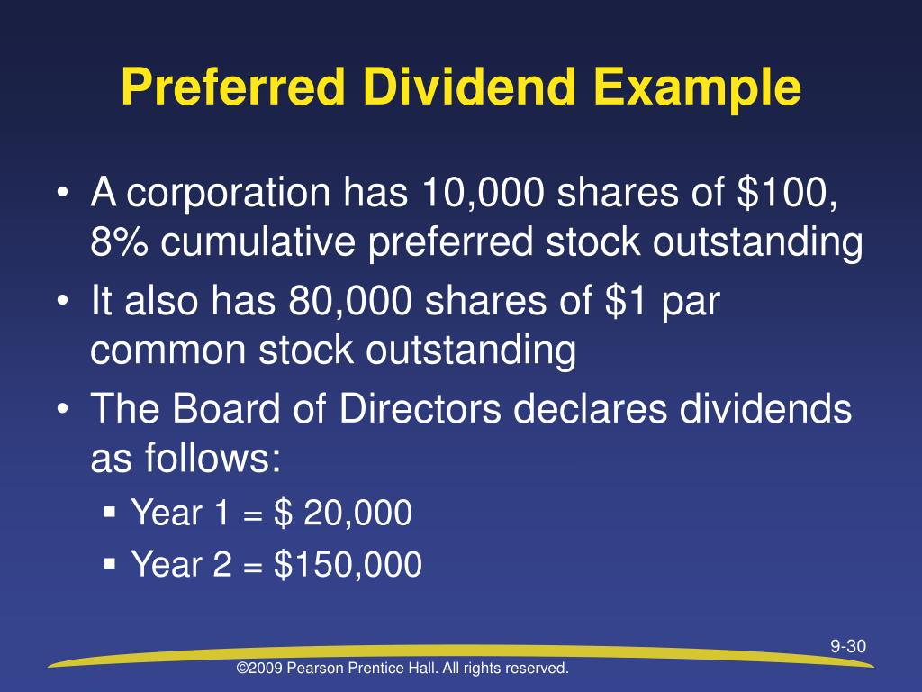 Preferred Dividend Example