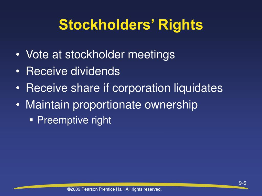 Stockholders' Rights