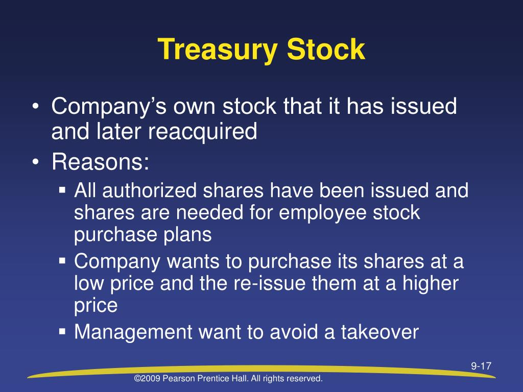 Treasury Stock