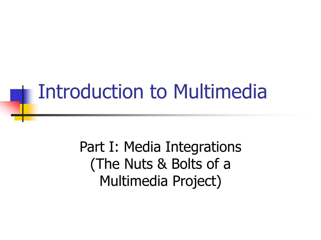 introduction to multimedia l.