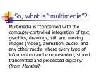 so what is multimedia