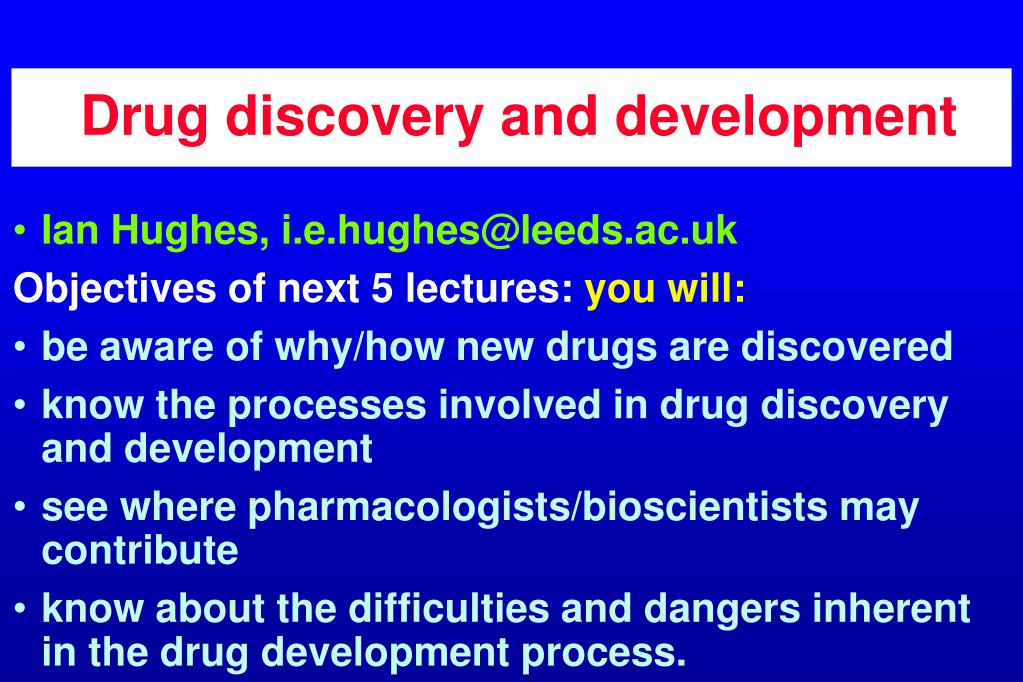 drug discovery and development l.