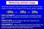 reducing animal usage