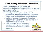 2 he quality assurance committee