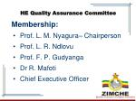 he quality assurance committee
