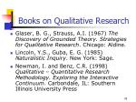 books on qualitative research