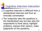 cognitive interview instruction