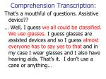 comprehension transcription