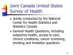 joint canada united states survey of health