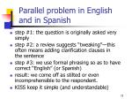 parallel problem in english and in spanish