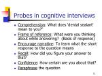 probes in cognitive interviews