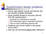 questionnaire design problems