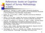 references books on cognitive aspect of survey methodology casm
