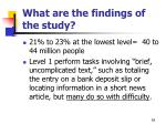 what are the findings of the study