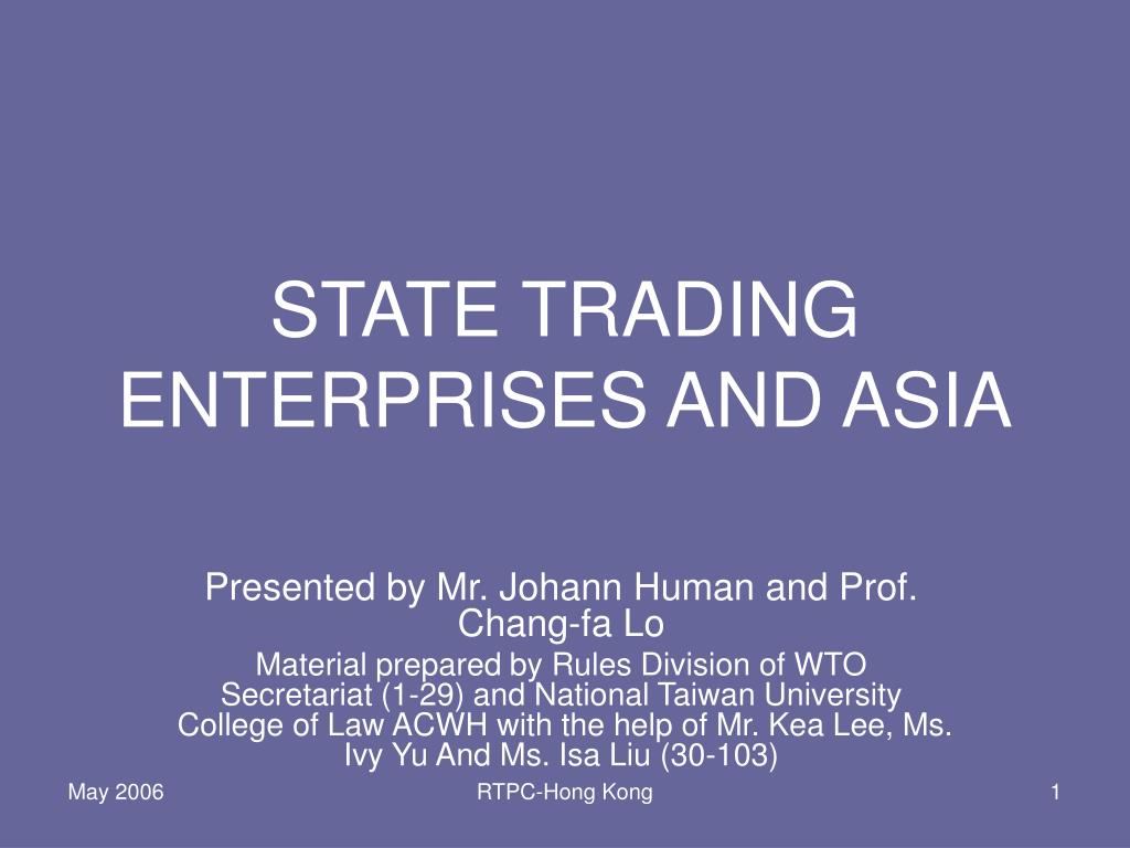 state trading enterprises and asia l.