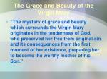the grace and beauty of the virgin mary