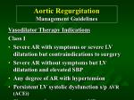 aortic regurgitation management guidelines41