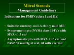 mitral stenosis management guidelines59