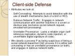 client side defense