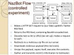 nazbot flow controlled experiment