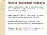 nazbot twitterbot refresher