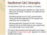nazbotnet c c strengths