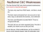 nazbotnet c c weaknesses