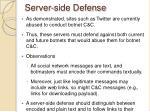 server side defense