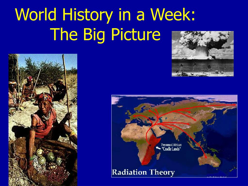 world history in a week the big picture l.