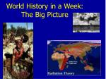 world history in a week the big picture