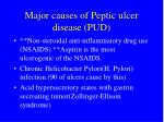 major causes of peptic ulcer disease pud