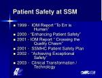 patient safety at ssm