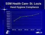 ssm health care st louis hand hygiene compliance