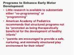 programs to enhance early motor development9