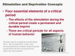 stimulation and deprivation concepts41