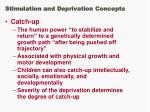 stimulation and deprivation concepts44